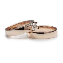 Aliança de Casamento Solitário com Diamante de 35 ... - Helder Joalheiros