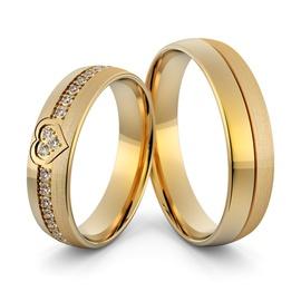 Aliança de Coração em Ouro 18k com Diamantes - Helder Joalheiros