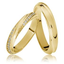 Aliança de Casamento Cravejada com Brilhantes - Helder Joalheiros