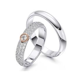 Aliança com Diamantes - Helder Joalheiros