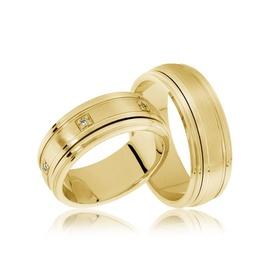 Aliança de Casamento - Ouro 18k - com Brilhantes - Helder Joalheiros