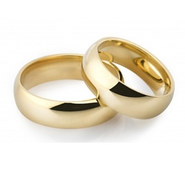 Aliança de Ouro Clássica 6,0 Milímetros - Ouro 18k... - Helder Joalheiros