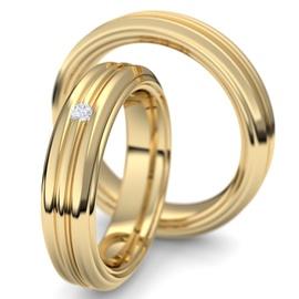 Aliança de Ouro 18k com Brilhantes - Helder Joalheiros