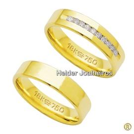 Aliança de Casamento - Ouro 18k 750 - Helder Joalheiros