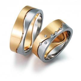 Aliança de Bodas de Prata com Diamantes - Helder Joalheiros