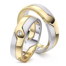 Aliança em Ouro 18k Amarelo e Branco - Helder Joalheiros