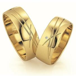 Aliança de Casamento Trabalhada com Diamante - Helder Joalheiros