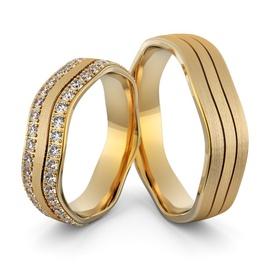 Aliança de Casamento e Noivado com Diamantes em Ou... - Helder Joalheiros