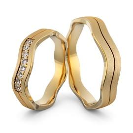Aliança em Ouro 18k com Diamantes - Helder Joalheiros