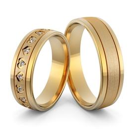 Aliança de Casamento e Noivado em Ouro 18k Coração... - Helder Joalheiros
