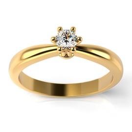 Solitário Ouro 18k Chuveiro com Diamante - Helder Joalheiros
