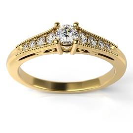 Solitário Ouro 18k Cravejado com Diamantes - Helder Joalheiros