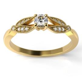 Solitário em Ouro 18k com Diamantes - Helder Joalheiros