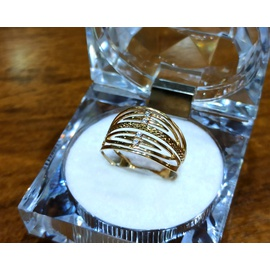 Anel em Ouro 18k Vazado Centro Diamantado - Helder Joalheiros