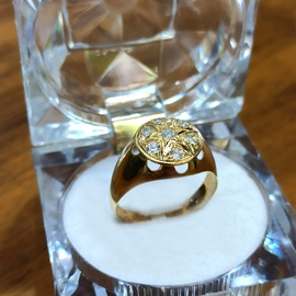 Anel em Ouro 18k com Diamantes - Helder Joalheiros