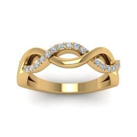 Anel Trançado com Diamantes em Ouro 18k - Helder Joalheiros