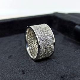 Anel em Ouro 18k Cravejado com Diamantes - Helder Joalheiros
