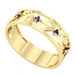 Anel de Formatura em Ouro ADM com Pedras - Helder Joalheiros