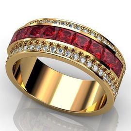 Anel De Formatura Ouro 18k Com Diamantes e Pedras... - Helder Joalheiros