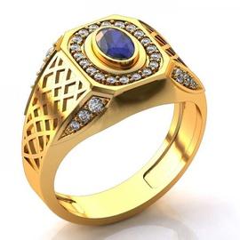 Anel de Formatura com Diamantes com Pedra Natural - Helder Joalheiros