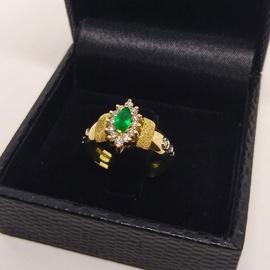 Anel de Formatura em Ouro 18k 750 Navete com Pedra - Helder Joalheiros