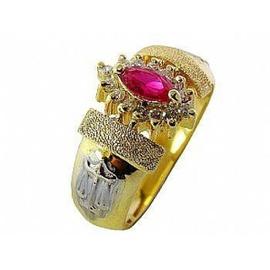 Anel de Formatura em Ouro 18 k com Diamantes e Ped... - Helder Joalheiros