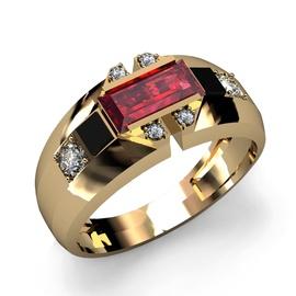 Anel de Formatura Ouro 18k Com Diamantes - Helder Joalheiros