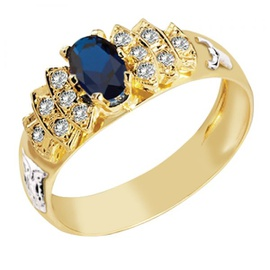 Anel de Formatura em Ouro 18k com Diamante - Helder Joalheiros