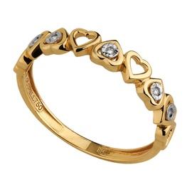 Anel Corações com Diamantes - Helder Joalheiros