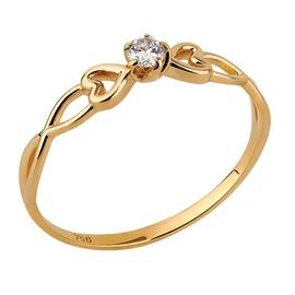 Anel em Ouro Amarelo 18k Vazado com Diamantes - Helder Joalheiros