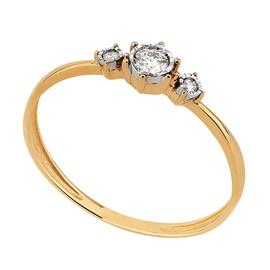Anel Solitário - Ouro 18k Com Diamantes - Helder Joalheiros