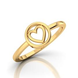 Anel Coração Love Ouro 18k 750 - Helder Joalheiros