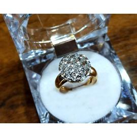 Anel em Ouro 18k Amarelo e Branco com Diamantes - Helder Joalheiros