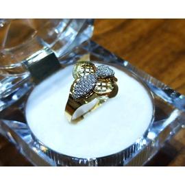 Anel em Ouro 18k Diamantado com Zircônias - Helder Joalheiros