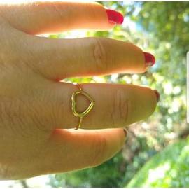 Anel em Ouro 18K Coração - Helder Joalheiros