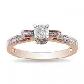 Anel Laço Cravejado Com Diamantes - Helder Joalheiros