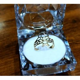 Anel em Ouro 18k Menino Vazado Diamantado - Helder Joalheiros