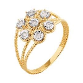 Anel em Ouro Amarelo 18k Aro Torcido com Diamantes - Helder Joalheiros