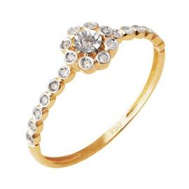 Anel de Florzinha com Diamantes - Ouro Amarelo 18k - Helder Joalheiros