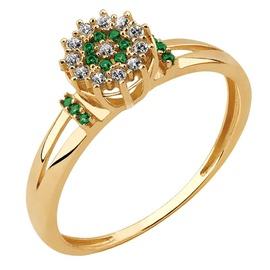 Anel Chuveiro de Florzinha com Esmeralda e Diamant... - Helder Joalheiros