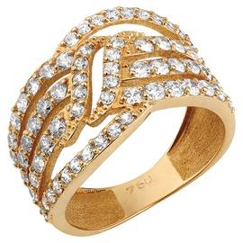 Anel 3 Aros Cravejados com Zircônia - Ouro 18k - Helder Joalheiros