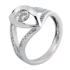 Anel em Ouro Branco 18k Vazado com Diamantes - Helder Joalheiros