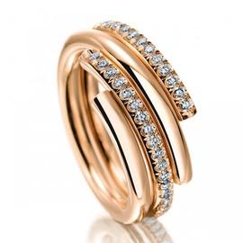 Anel Cravejado com Diamantes - Helder Joalheiros