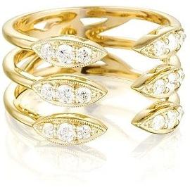 Anel 3 Aros Aberto c/ Diamantes - Helder Joalheiros