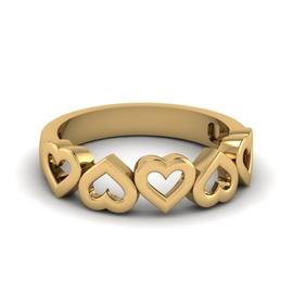 Anel Corações em Ouro - Helder Joalheiros