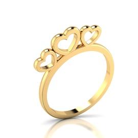 Anel Corações Love Ouro 18k 750 - Helder Joalheiros
