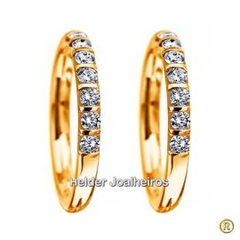 Aparador de Brilhantes em Ouro Amarelo 18k 750 - Helder Joalheiros