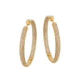 Brinco Argola em Ouro 18k Com Diamantes - Helder Joalheiros