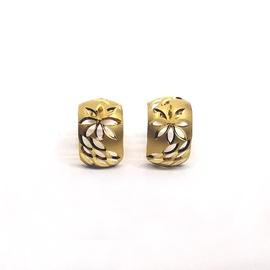 Brinco em Ouro 18k Trabalhado Diamantado - Helder Joalheiros