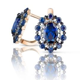 Brinco com Safira e Diamantes - Helder Joalheiros
